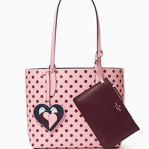 Kate Spade Love Bird Reversible Tote Pink Multi